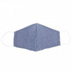 MAscarilla 100 % algodon Vichy Azul Marino