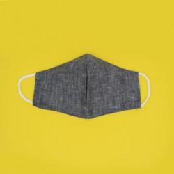 Mascarilla 100% algodon talla M en color gris