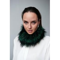 Cuello/Buff en pelo tono verde jade